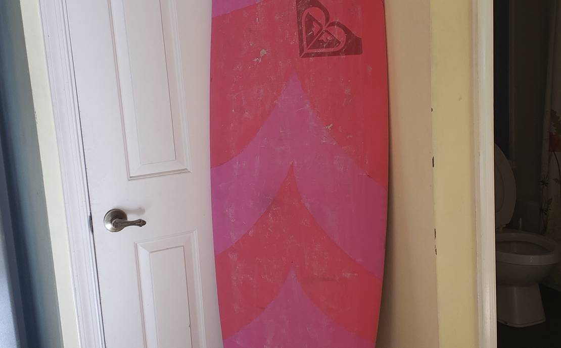 Soft top Roxy surfboard