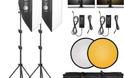 LOMTAP Softbox Photography Lighting Kit