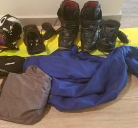 Snowboard Set (snowboat, coat, boots, etc)