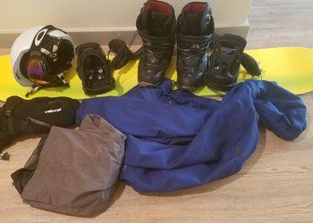 Snowboard Set (Snowboard, coat, pants, boots, googles, gloves) - Men's - 5'6 - 5'8