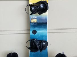 Snowboard with Boots & Googles