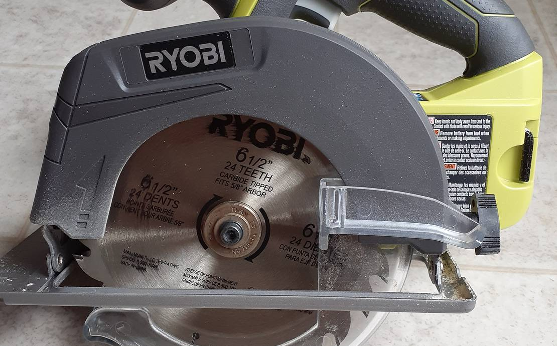 Ryobi 6 1/2in 18v circular saw