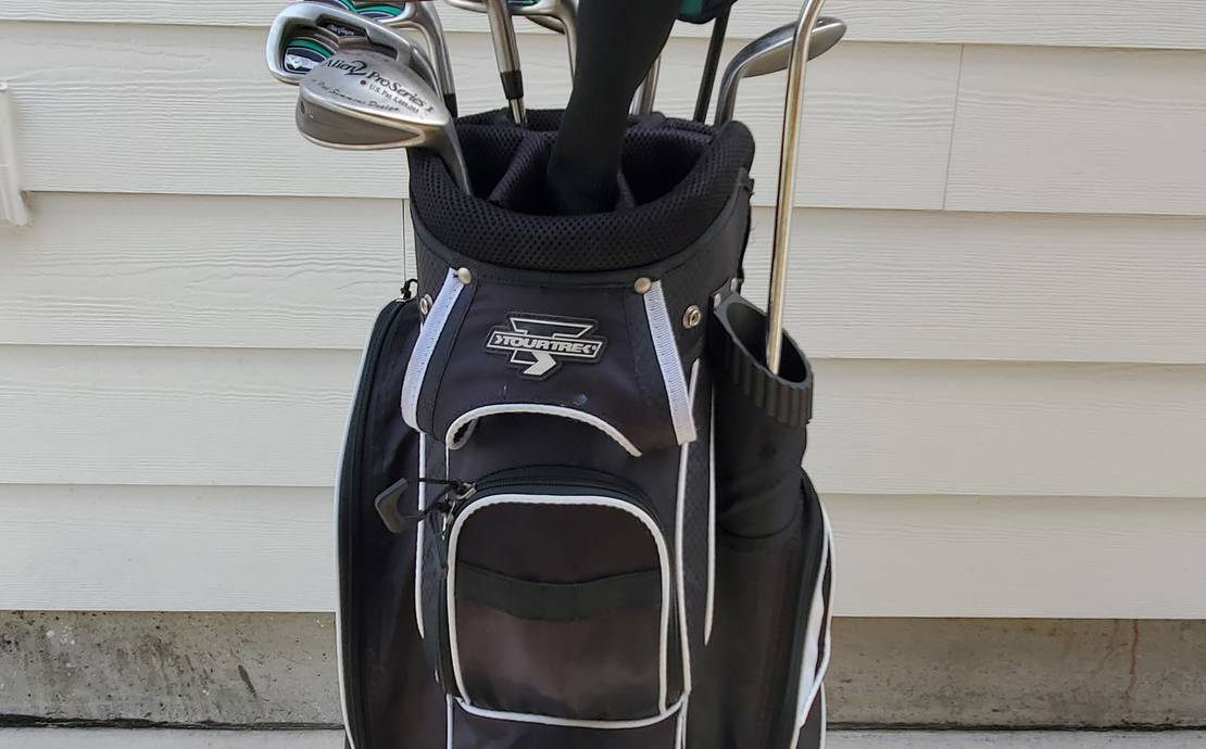 Golf Clubs and Cart