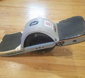 OneWheel+ XR w/ Kush Hi rear foot pad, fender and float plates, Hoosier Whisper tire