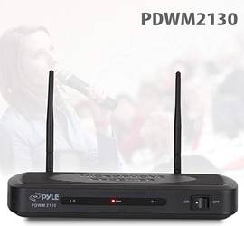 Pyle PDWM2130 - FM Wireless Microphone Receiver System