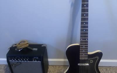 Dane Electro Guitar and Fender Amp