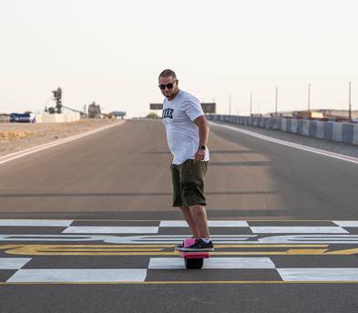 Onewheel XR with Hoosier Whisper Tire and Footpads