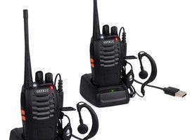 ESYNiC Walkie Talkies 2 pcs Long Range Two-Way Radio