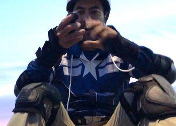 AZBO electric skateboard - 19mile range, 25mph (& protective gear minus helmet)