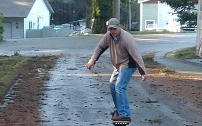 Electric skateboard rental in Ault Field