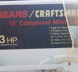 10-inch Compound Miter Saw, Craftsman