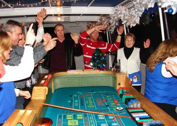 Craps Table with Dealers