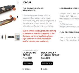 Loaded Longboard - Icarus