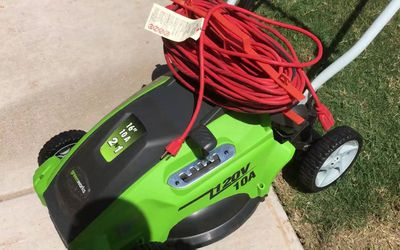 "Greenworks 120V 16"" Electric Lawn Mower"