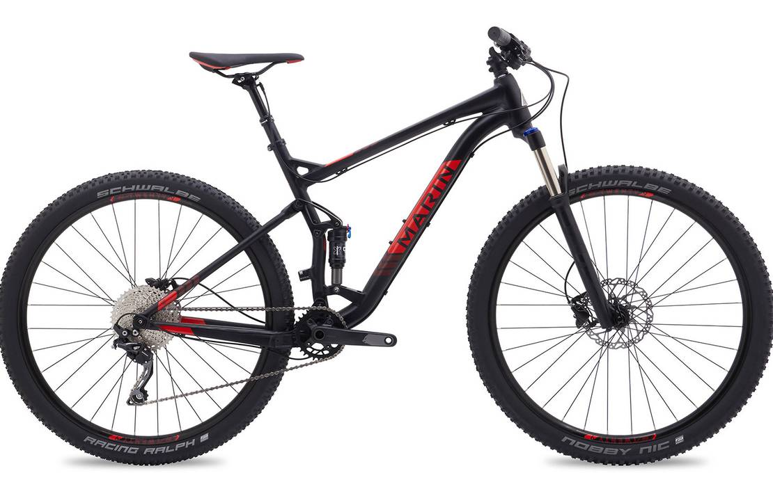 full suspension Marin trail bike