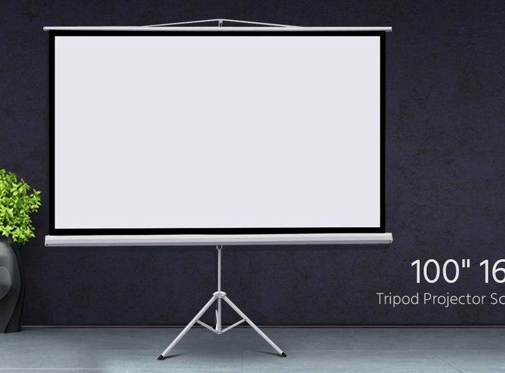 """Yaheetech 100"""" Projector 16:9 Projection Screen HD"""